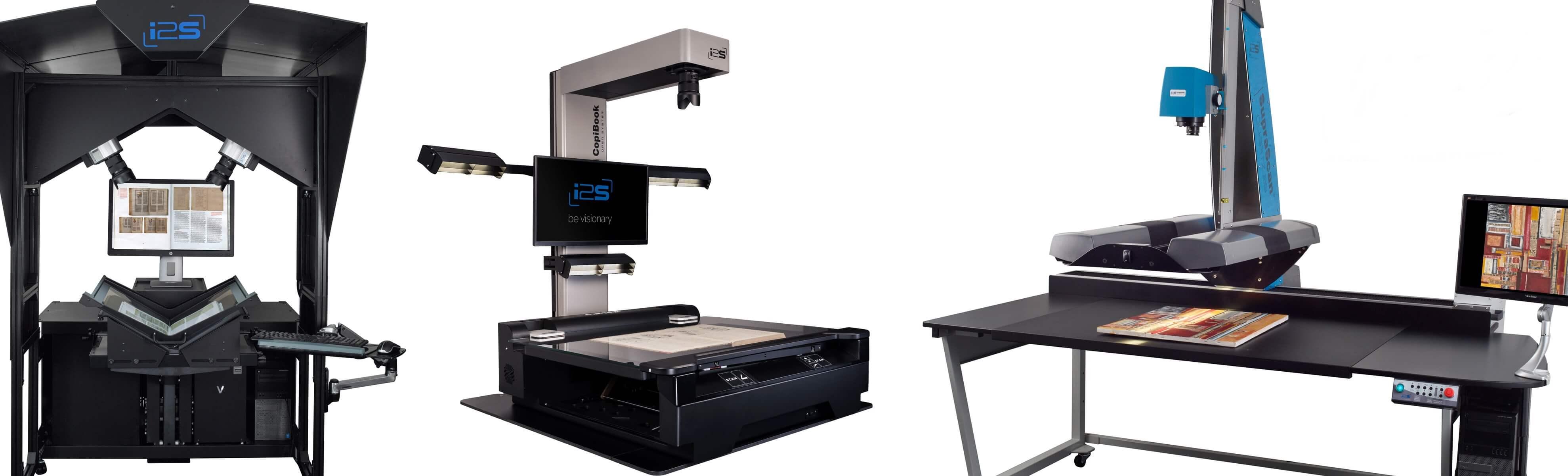 Knižní a velkoformátové skenery i2S