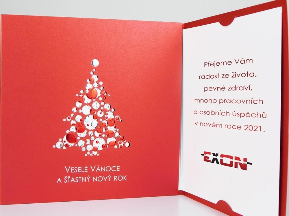 PF 2021 společnosti EXON. Přání zákazníkům, obchodním partnerům a přátelům vše nejlepší do roku 2021 a příjemné prožití vánočních svátků.
