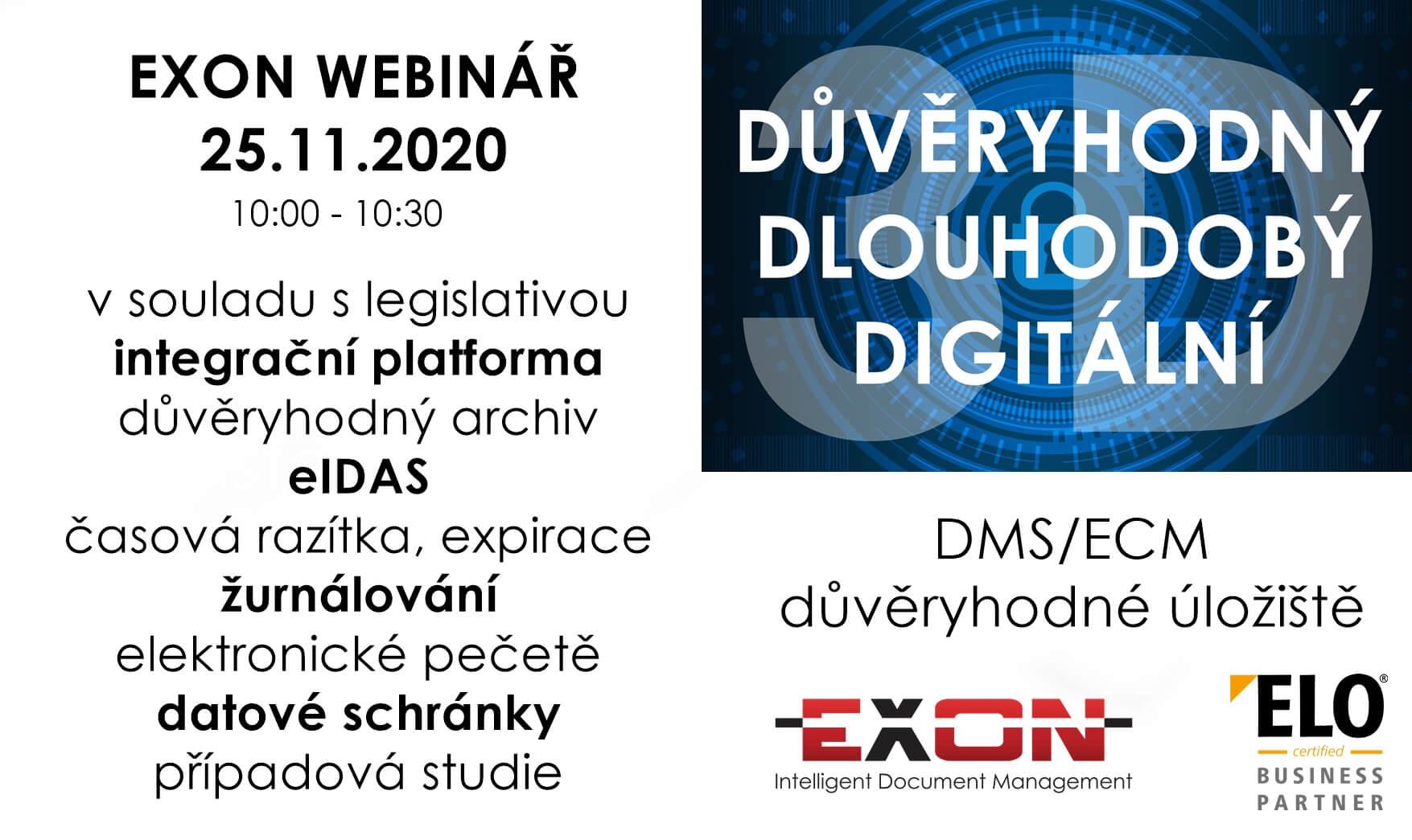 Webinář EXON dne 24.11.2020 - pozvánka