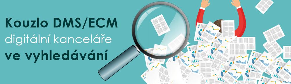 Článek na téma: Výhody DMS/ECM  ve vyhledávání. Dostupnost a dohledatelnost dokumentů jako velká přidaná hodnota document management system a enterprise content management.