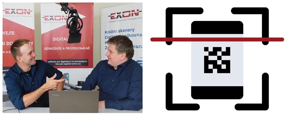 Webinář o digitalizaci na digitalizačním oddělení společnosti EXON. Petr Polanský a Petr Süč.